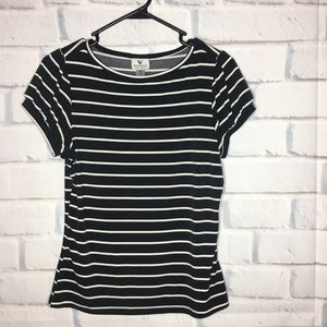 Worthington Black & White Striped Dress Shir